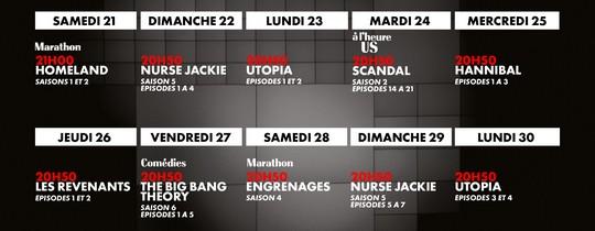 programme du lancement de Canal+ Séries