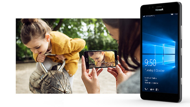Le Lumia 950, smartphone sous Windows 10'