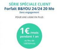 Le 2e abonnement B&You à 1€
