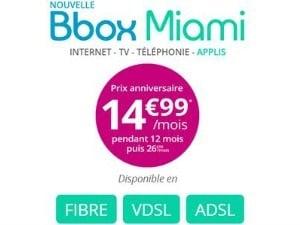 Bouygues : la Bbox MIami à 17,99€/mois