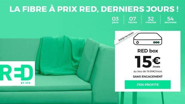 Box RED à 15€/mois, location matérielle incluse
