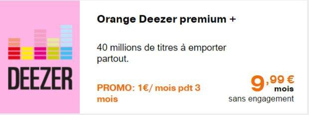 Deeer : petit prix d'essai chez Orange et Sosh