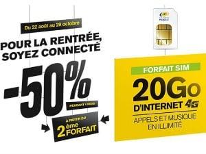 La Poste Mobile : -50% dès le 2e forfait