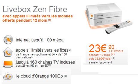 Promo Livebox Zen fibre