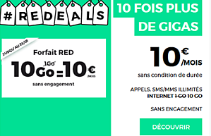 RED 10 Go en promotion