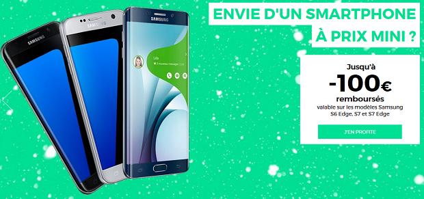 100€ de réduction sur le Samsung Galaxy S7 et S7 Edge