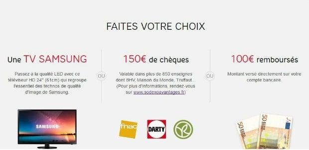 150e de bons d'achat ou 100€ offerts avec SFR