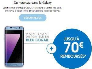 Le Galaxy S7 Edge en bleu corail