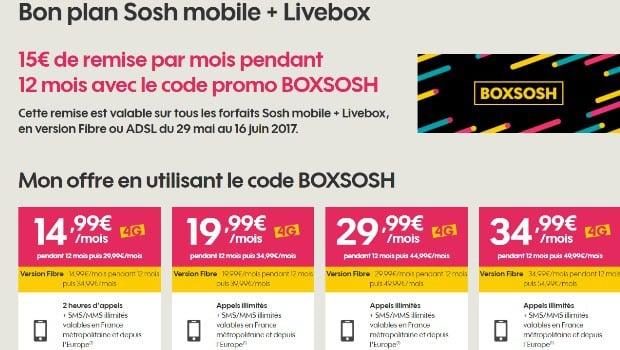 Sosh : Internet avec mobile en promo