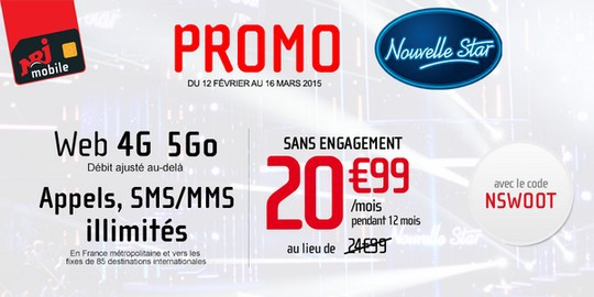 Promo NRJ Mobile Nouvelle Star