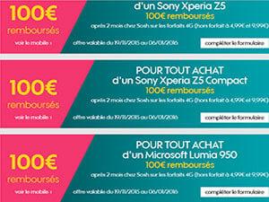 100 euros de réduction chez Sosh