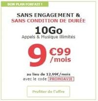 Forfait La Poste Mobile à tarif réduit
