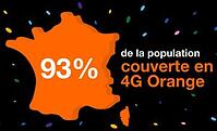 Orange couvre en 4G 93% de la population en métropole... en théorie