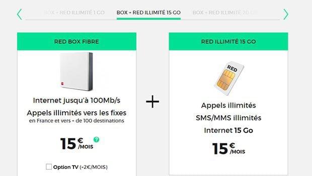 Fixe Internet + mobile chez RED, les deux pour 30 euros