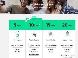 RED : forfait 20 Go à 10 euros par mois