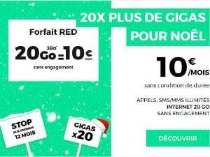 Le forfait RED 20 Go à 10€