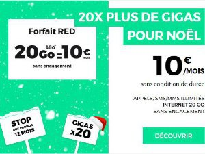 RED 20 Go à 10€ à vie
