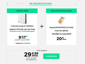 Les offres Box + mobile RED by SFR