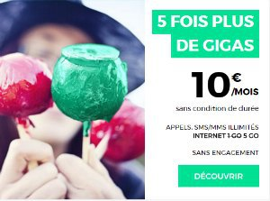 Forfaits 1 ou 2 Go et plus : RED by SFR