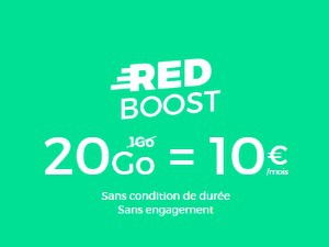 RED boost 20 Go à 10 euros/mois
