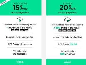 Ofres Internet RED : 100 chaînes de TV et débit boosté