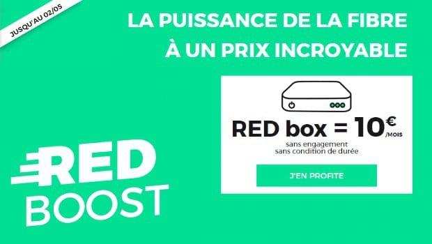 Promo Internet : la box RED fibre à 10€/mois à vie