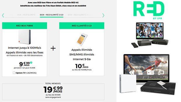 RED, Box + Mobile, un promo d'enfer avec le RED illimité 5Go à 10€/mois