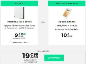 RED box + mobile 5 Go à partir de 19,99€