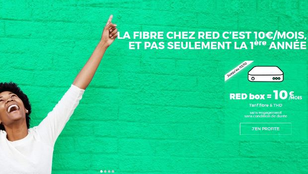 Box RED by SFR à 10€/mois en fibre et THD