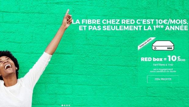 Box RED by SFR à 10€/mois en fibre et THD
