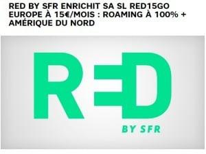 RED : nouveau forfait roaming