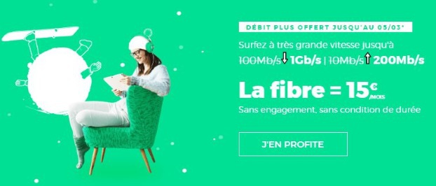 Débit 1 Gb/s chez RED by SFR