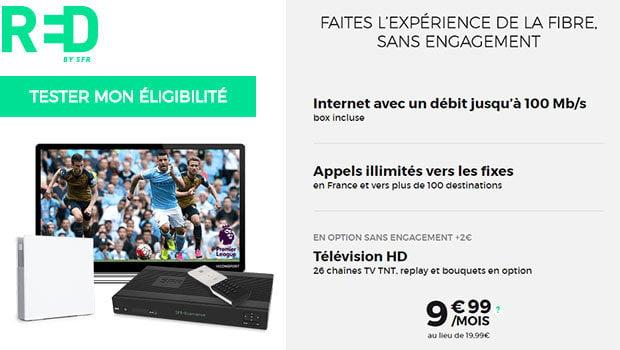 RED fibre + décodeur TV Evolution pour 2€ de plus