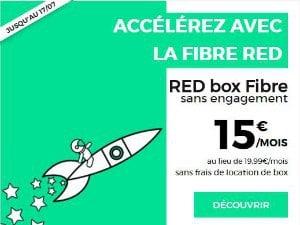 Promo Red fibre à 15 euros par mois