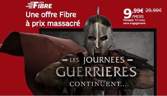 L'offre Red fibre by SFR est à seulement 9.99€/mois pendant un an