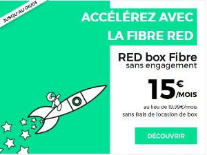 RED : box fibre à 15€ par mois