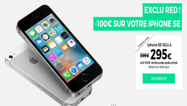 iPhone SE à -100€ chez RED by SFR