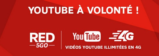 Le forfait Red 5Go 4G avec Youtube inclus