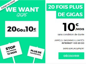 Offre spéciale RED 20 Go