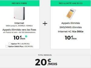 RED : Internet et forfait à petit prix