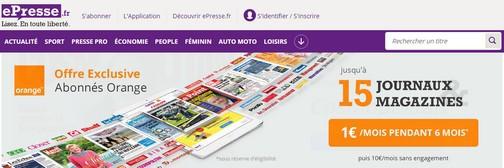 ePresse et Orange sont partenaires depuis juillet 2015