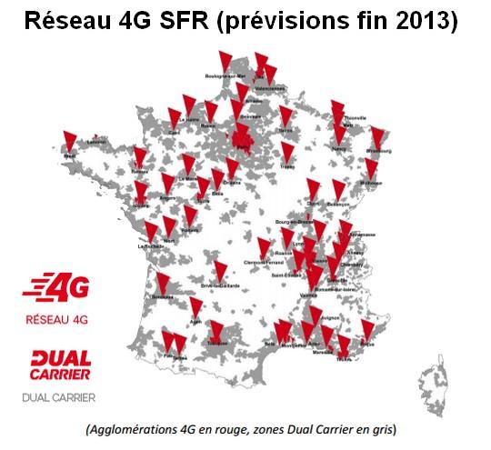 Carte 4G de SFR fin 2013