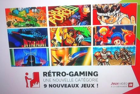 Retro Gaming sur les jeux à la demande de SFR