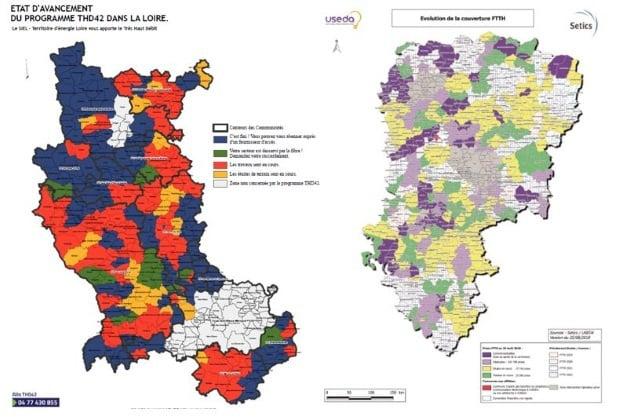 Fibre optique réseaux publics Loire et Aisne