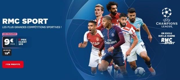 RMC Sport abonnement SFR