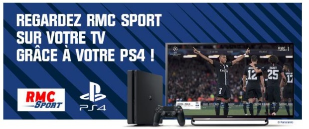 RMC Sport disponible sur PlayStation 4