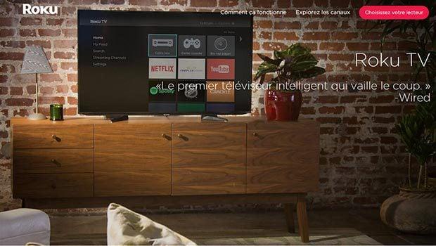 L'interface Roku OS est relativement classique mais adaptée aux grands écrans