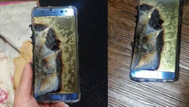 Galaxy Note 7 qui explose
