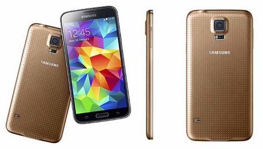 Samsung Galaxy S5 doré
