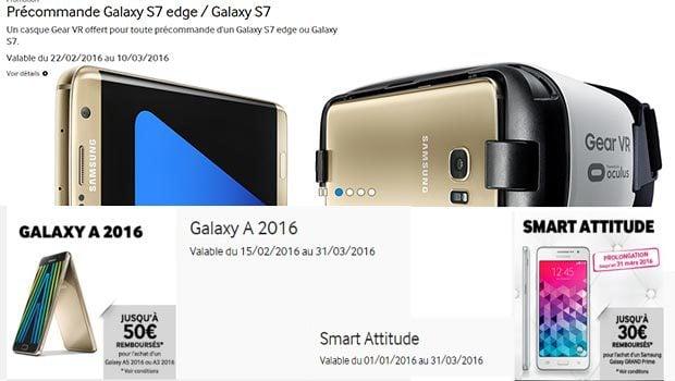 Promotion sur la gamme Galaxy A 2016